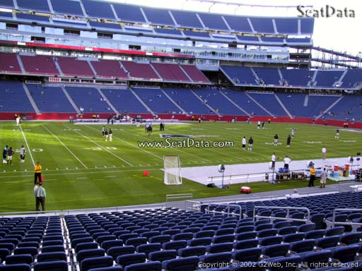 Seat view from section 112 at Gillette Stadium, home of the New England Patriots