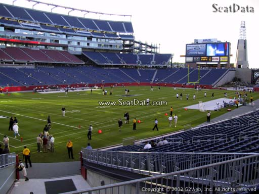 Seat view from section 116 at Gillette Stadium, home of the New England Patriots