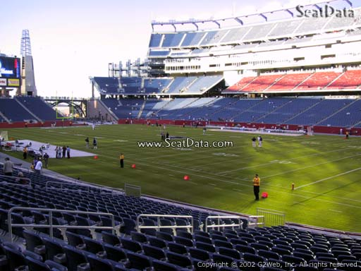 Seat view from section 126 at Gillette Stadium, home of the New England Patriots