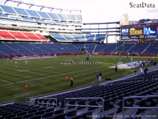 Seat view from section 137 at Gillette Stadium, home of the New England Patriots