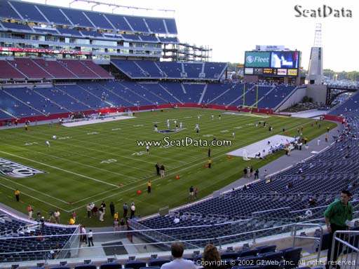 Seat view from section 216 at Gillette Stadium, home of the New England Patriots