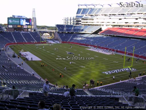 Seat view from section 224 at Gillette Stadium, home of the New England Patriots