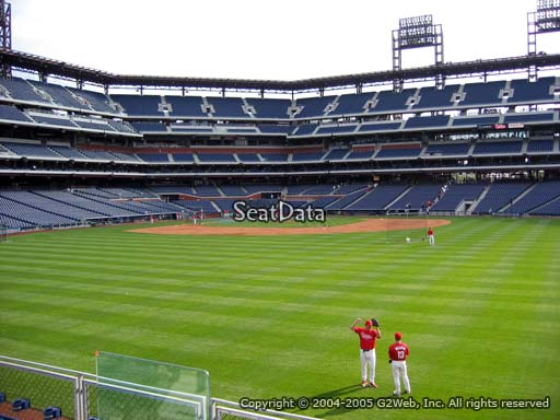 Seat view from section 101 at Citizens Bank Park, home of the Philadelphia Phillies