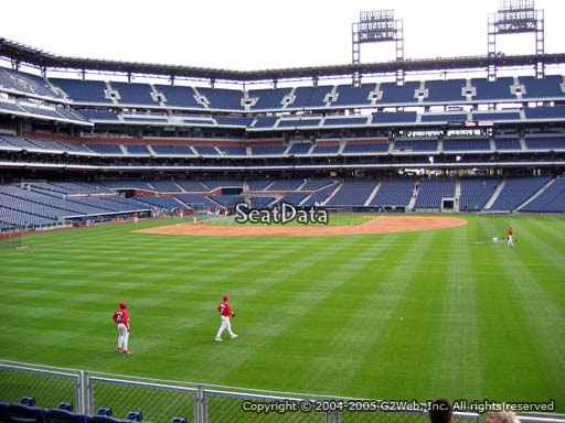 Seat view from section 103 at Citizens Bank Park, home of the Philadelphia Phillies