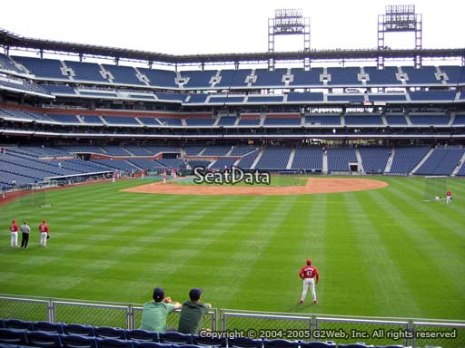 Seat view from section 104 at Citizens Bank Park, home of the Philadelphia Phillies