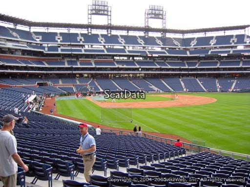Seat view from section 108 at Citizens Bank Park, home of the Philadelphia Phillies