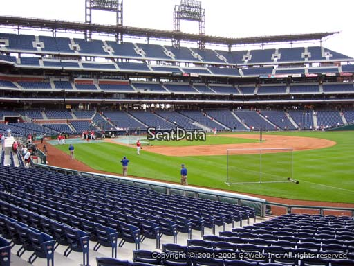 Seat view from section 110 at Citizens Bank Park, home of the Philadelphia Phillies