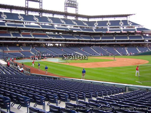Seat view from section 111 at Citizens Bank Park, home of the Philadelphia Phillies