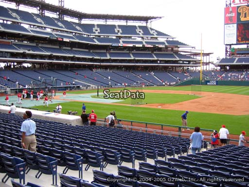 Seat view from section 114 at Citizens Bank Park, home of the Philadelphia Phillies