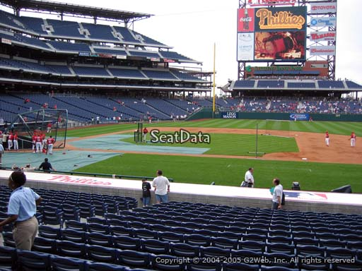 Seat view from section 116 at Citizens Bank Park, home of the Philadelphia Phillies