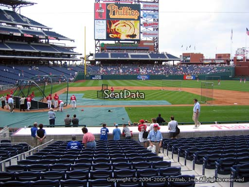 Seat view from section 118 at Citizens Bank Park, home of the Philadelphia Phillies