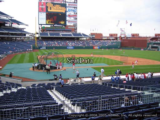 Seat view from section 120 at Citizens Bank Park, home of the Philadelphia Phillies