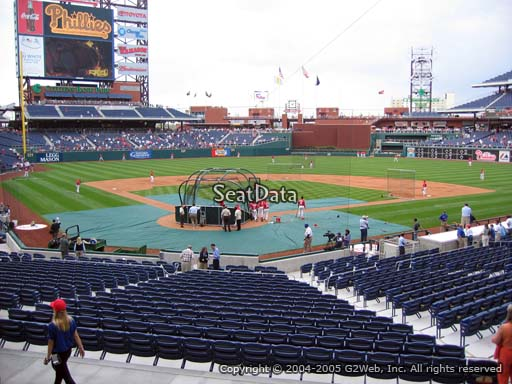 Seat view from section 122 at Citizens Bank Park, home of the Philadelphia Phillies