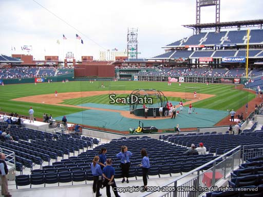 Seat view from section 125 at Citizens Bank Park, home of the Philadelphia Phillies