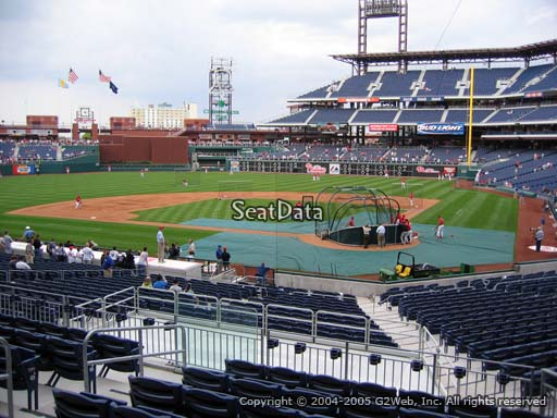 Seat view from section 126 at Citizens Bank Park, home of the Philadelphia Phillies