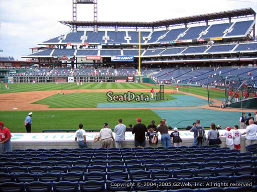 Seat view from section 130 at Citizens Bank Park, home of the Philadelphia Phillies