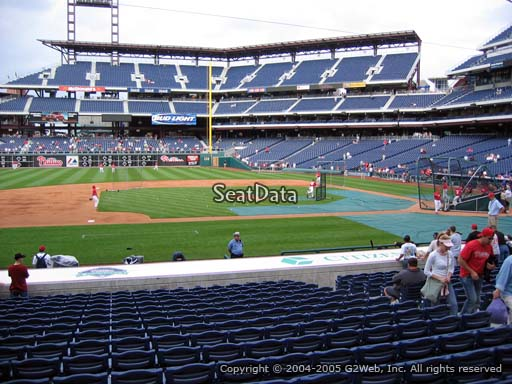 Seat view from section 131 at Citizens Bank Park, home of the Philadelphia Phillies