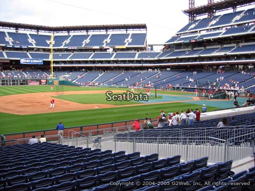Seat view from section 133 at Citizens Bank Park, home of the Philadelphia Phillies