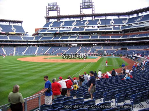 Seat view from section 139 at Citizens Bank Park, home of the Philadelphia Phillies