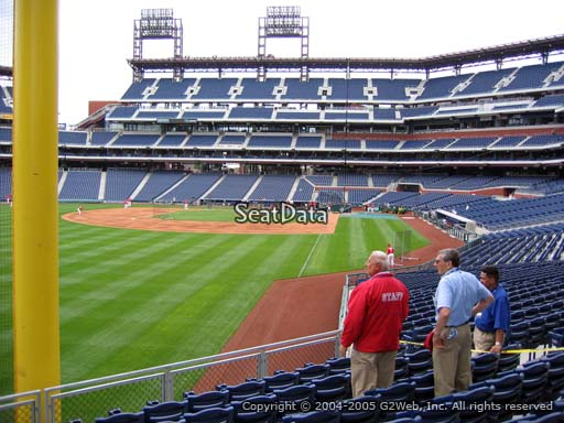Seat view from section 140 at Citizens Bank Park, home of the Philadelphia Phillies