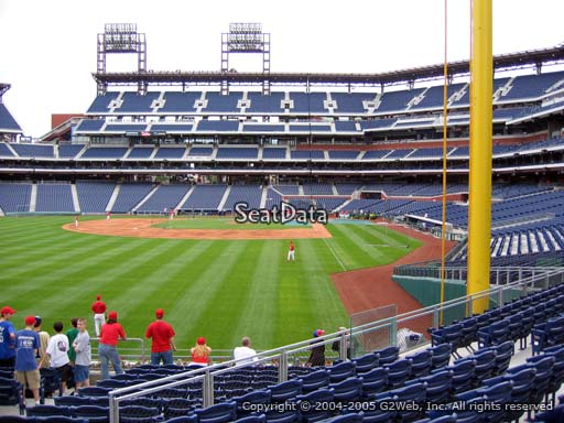 Seat view from section 141 at Citizens Bank Park, home of the Philadelphia Phillies