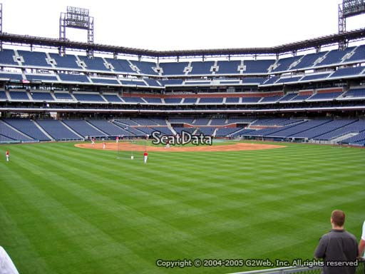 Seat view from section 148 at Citizens Bank Park, home of the Philadelphia Phillies