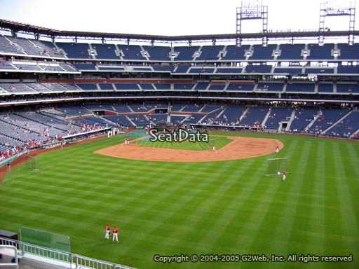 Seat view from section 201 at Citizens Bank Park, home of the Philadelphia Phillies