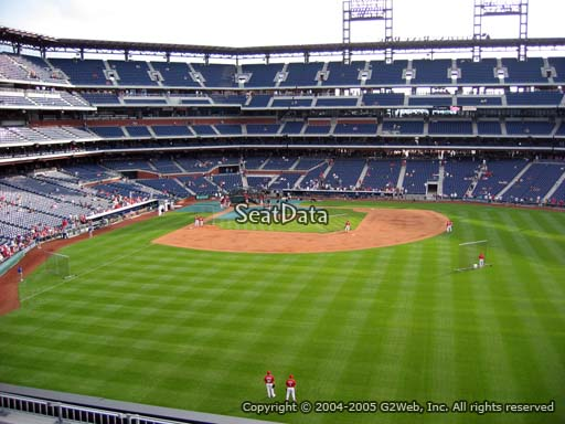 Seat view from section 202 at Citizens Bank Park, home of the Philadelphia Phillies