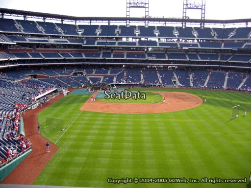 Seat view from section 204 at Citizens Bank Park, home of the Philadelphia Phillies