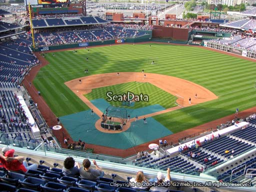 Seat view from section 419 at Citizens Bank Park, home of the Philadelphia Phillies