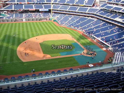 Seat view from section 427 at Citizens Bank Park, home of the Philadelphia Phillies