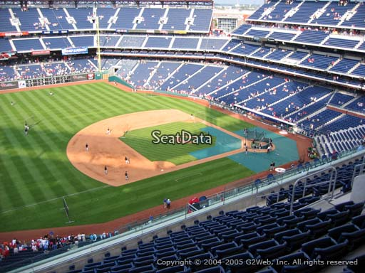 Seat view from section 429 at Citizens Bank Park, home of the Philadelphia Phillies