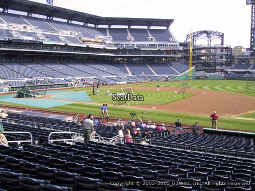 Seat view from section 108 at PNC Park, home of the Pittsburgh Pirates