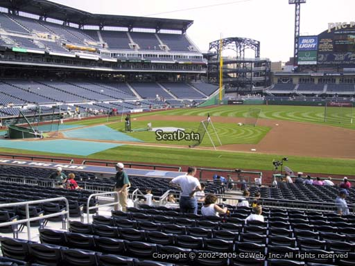 Seat view from section 109 at PNC Park, home of the Pittsburgh Pirates