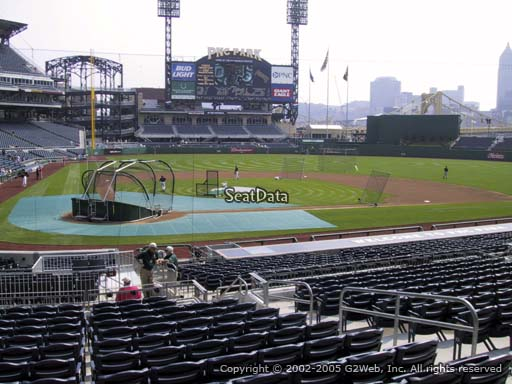 Seat view from section 114 at PNC Park, home of the Pittsburgh Pirates