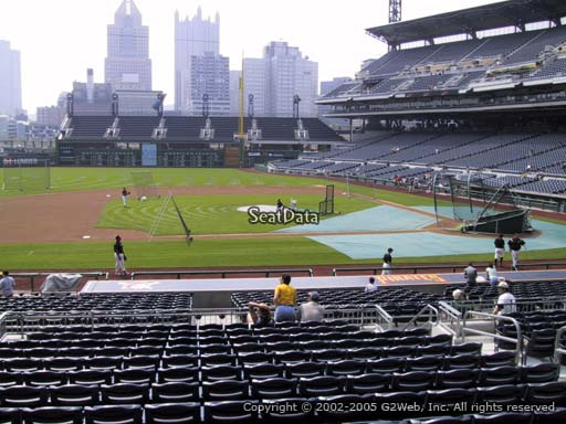 Seat view from section 123 at PNC Park, home of the Pittsburgh Pirates