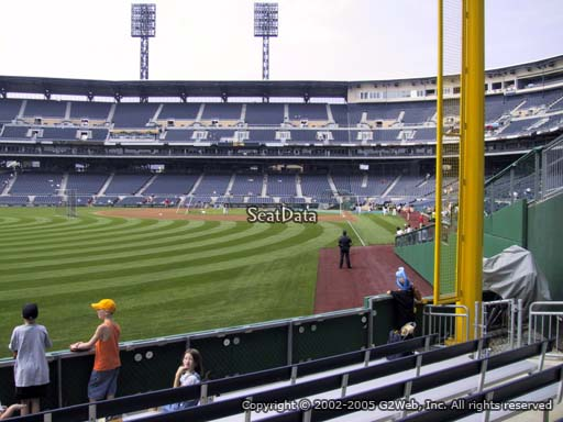 Seat view from section 133 at PNC Park, home of the Pittsburgh Pirates