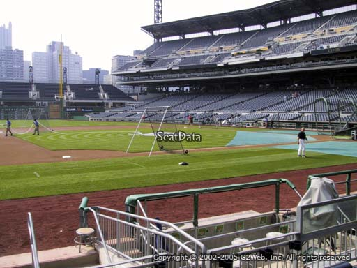 Seat view from section 24 at PNC Park, home of the Pittsburgh Pirates