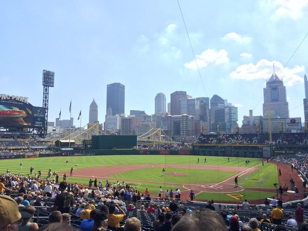View of Pittsburgh Skyline from PNC Park.