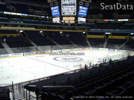 Seat view from section 114 at Bridgestone Arena, home of the Nashville Predators