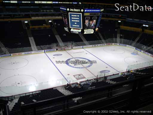 Seat view from section 215 at Bridgestone Arena, home of the Nashville Predators