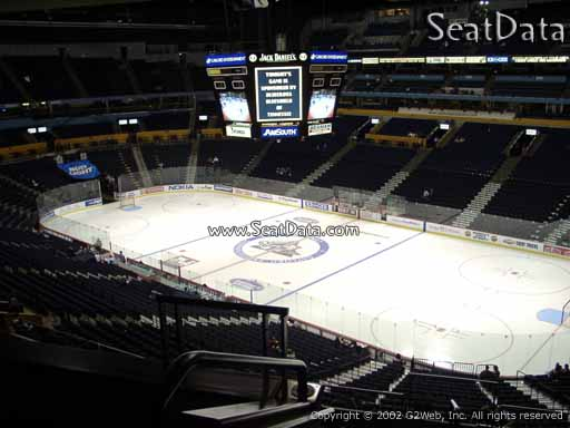 Seat view from section 217 at Bridgestone Arena, home of the Nashville Predators