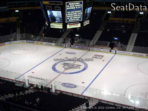 Seat view from section 311 at Bridgestone Arena, home of the Nashville Predators