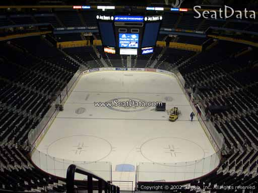 Seat view from section 316 at Bridgestone Arena, home of the Nashville Predators