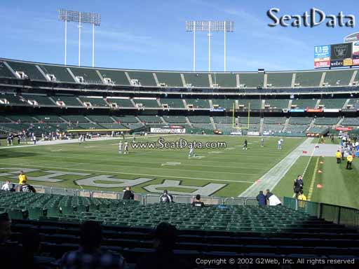 Seat view from section 103 at Oakland Coliseum, home of the Oakland Raiders