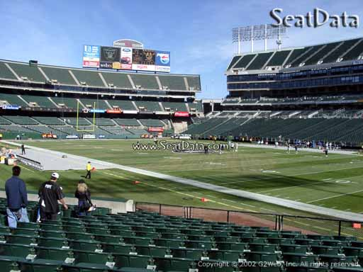 Seat view from section 111 at Oakland Coliseum, home of the Oakland Raiders