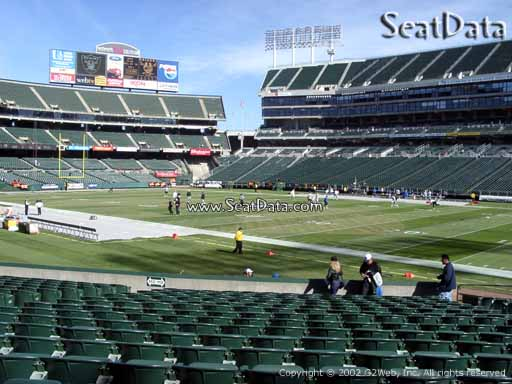 Seat view from section 112 at Oakland Coliseum, home of the Oakland Raiders