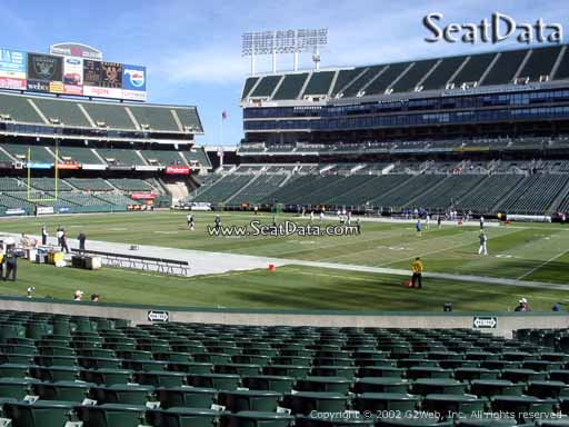 Seat view from section 113 at Oakland Coliseum, home of the Oakland Raiders