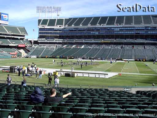 Seat view from section 115 at Oakland Coliseum, home of the Oakland Raiders