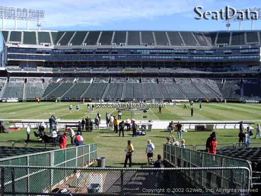 Seat view from section 117 at Oakland Coliseum, home of the Oakland Raiders